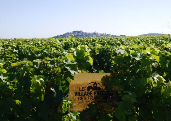 Plaque Village Préféré des Français 2021 vigne