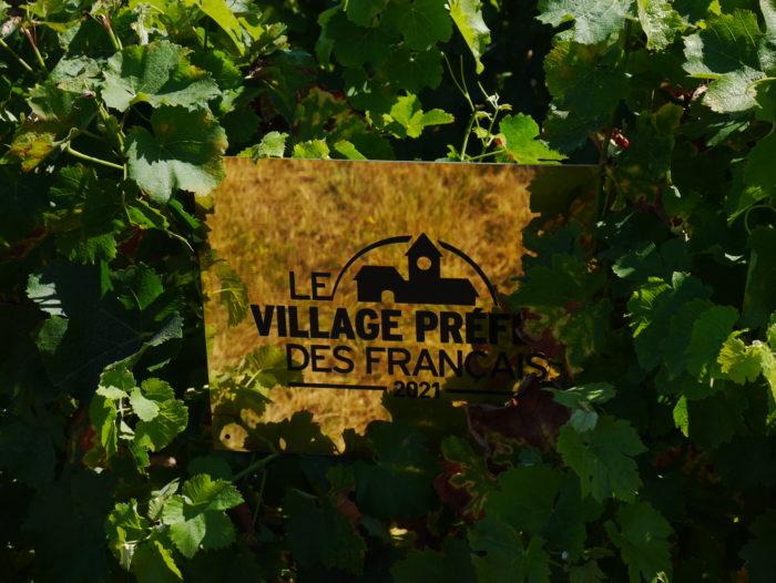 Plaque Village Préféré des Français 2021