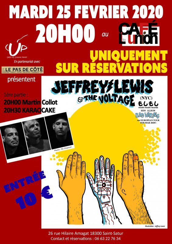 "Concert ""Jeffrey Lewis and the Voltage"""