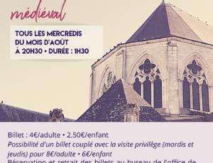 Affiches visite Saint-Satur médiévale