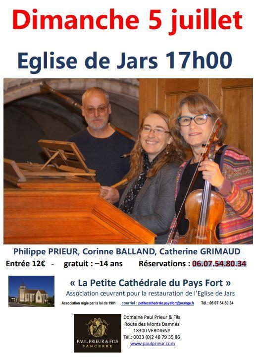 Concert – 5 juillet 2020 – Jars