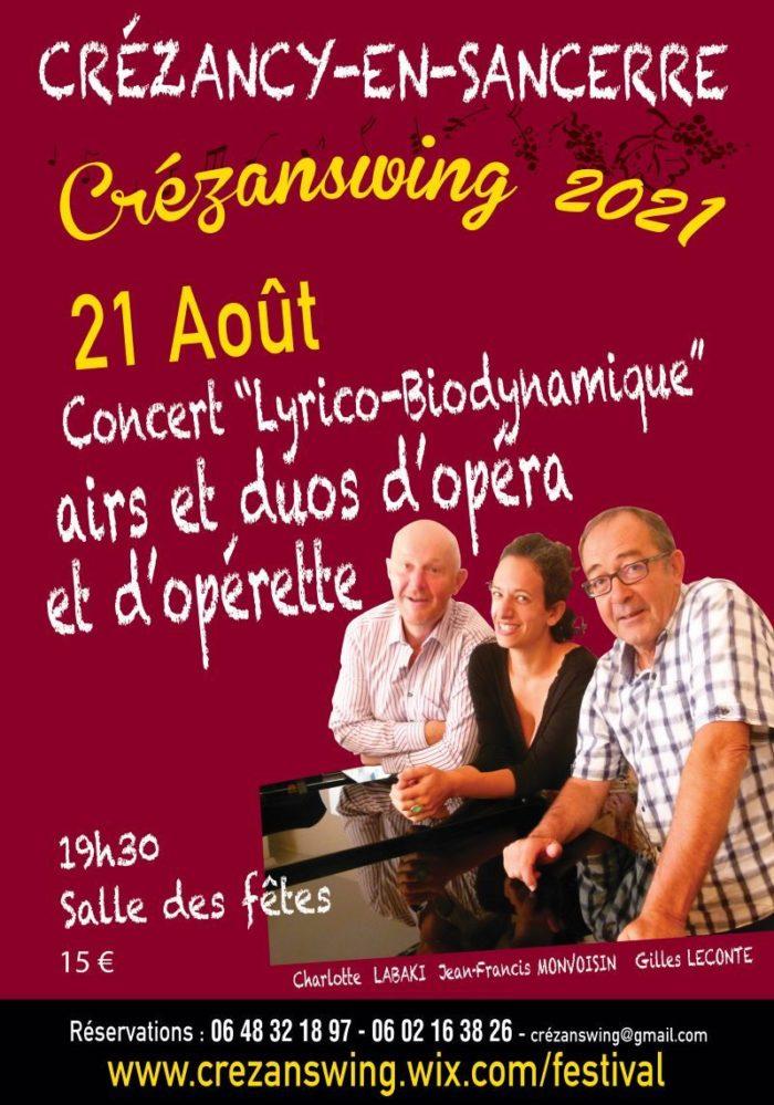 Concert Lyrico biodynamique Crezanswing 21 aout
