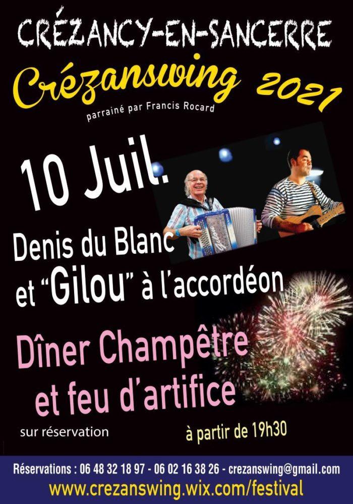 Diner champetre crezanswing 10 juillet
