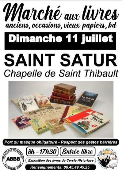 Marché livres anciens St-Satur