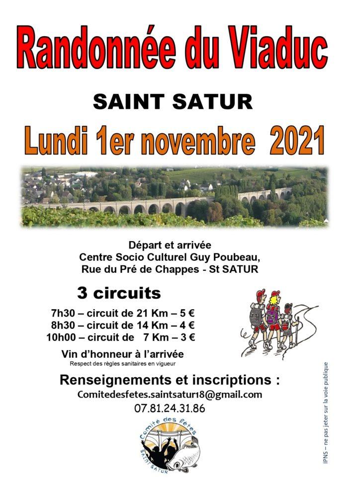 Randonnée du Viaduc Saint-Satur novembre 2021